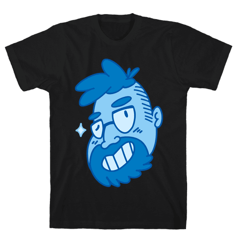 Cute Scruffy Dude (Blue) Mens T-Shirt