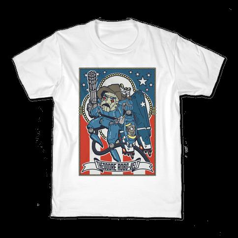 Theodore Robo-velt Kids T-Shirt