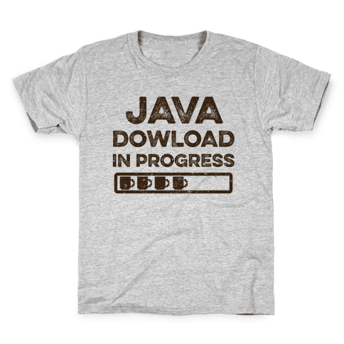 Java Download In Progress Kids T-Shirt