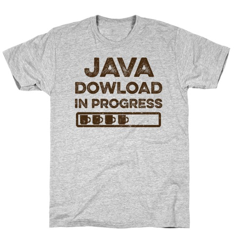 Java Download In Progress Mens T-Shirt