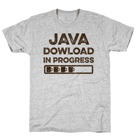 Java Download In Progress Mens T-Shirt