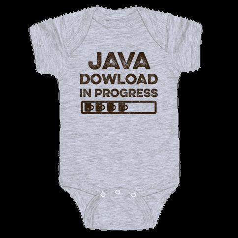 Java Download In Progress Baby Onesy