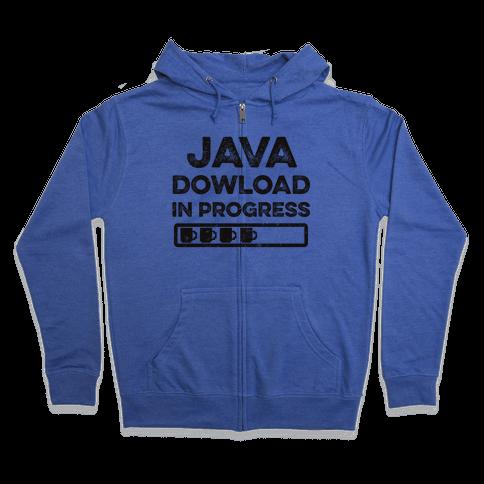 Java Download In Progress Zip Hoodie