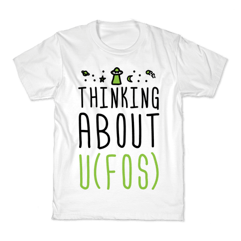 Thinking About UFOs Kids T-Shirt