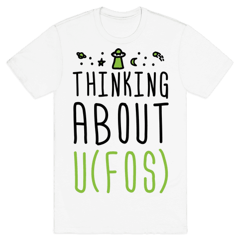 Thinking About UFOs Mens T-Shirt