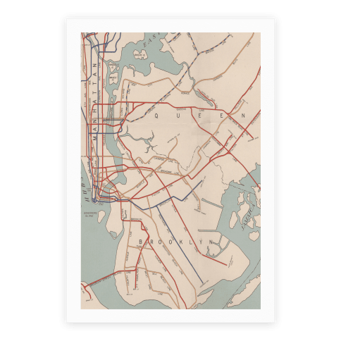 Vintage Brooklyn Map