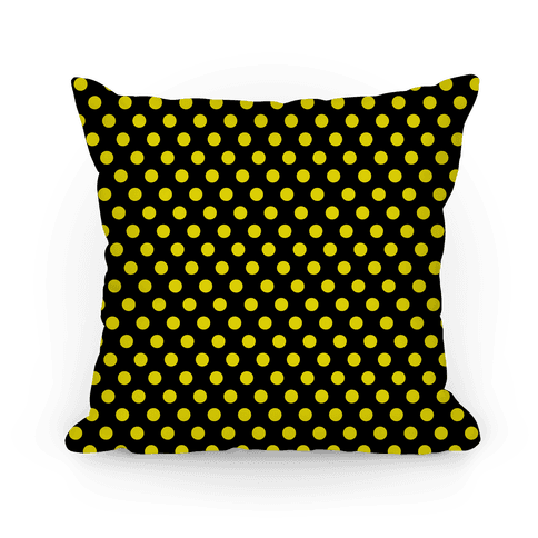 Hufflepuff House Polka Dot Pattern Pillow