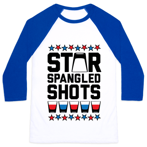 Star Spangled Shots Baseball Tee