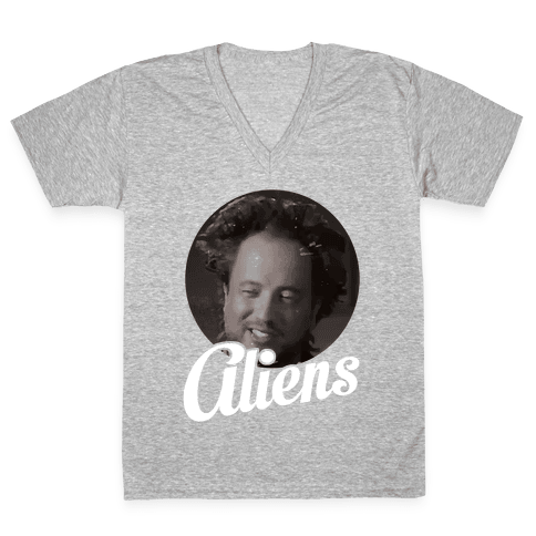 Aliens V-Neck Tee Shirt