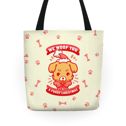 We Woof You A Furry Christmas Tote