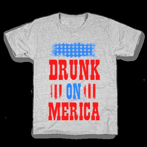 Drunk on Merica! Kids T-Shirt