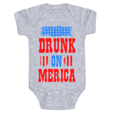 Drunk on Merica! Baby Onesy