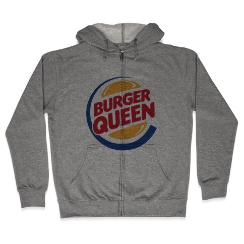 Burger Queen Zip Hoodie