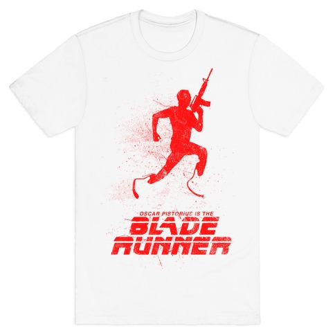 Blade Runner (As Demonstrated With Guns) Mens T-Shirt