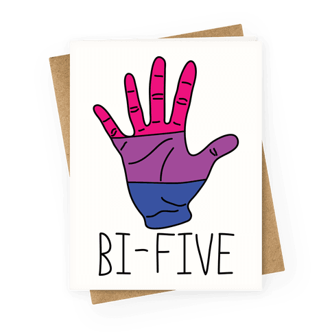 Bi-Five Greeting Card