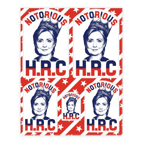 Notorious HRC Sticker and Decal Sheet