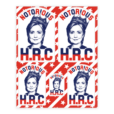 Notorious HRC Sticker/Decal Sheet