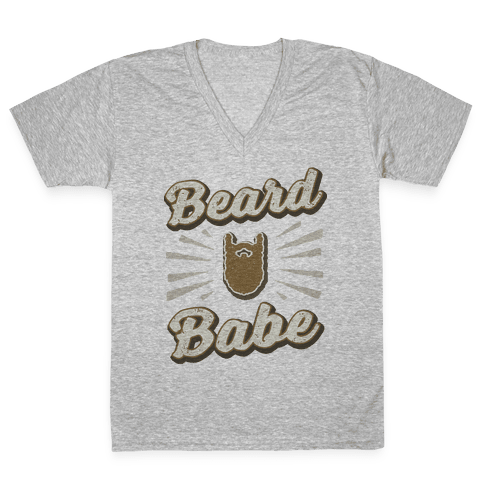 Beard Babe V-Neck Tee Shirt