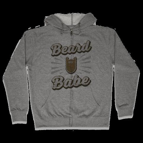 Beard Babe Zip Hoodie