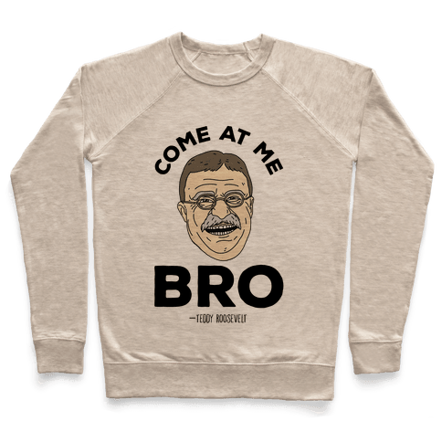 Come At Me Bro - Teddy Roosevelt Pullover