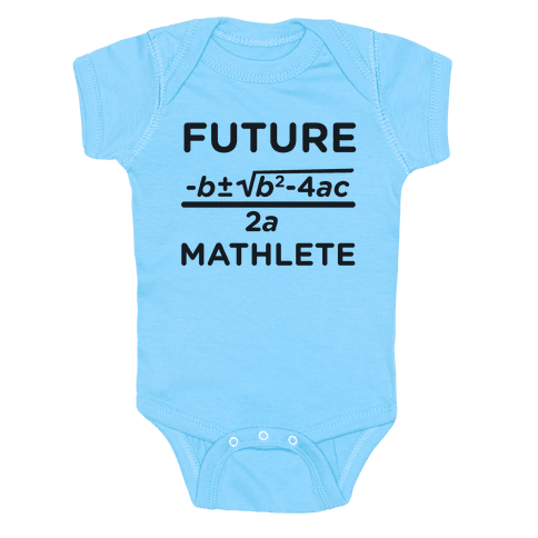 Mathlete of Tomorrow Baby Onesy