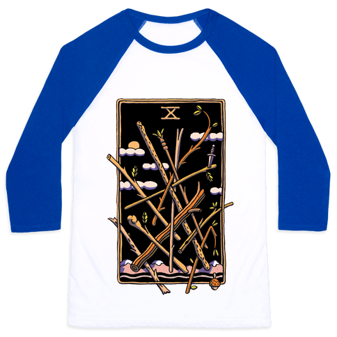 Ten Of Wands Baseball Tee