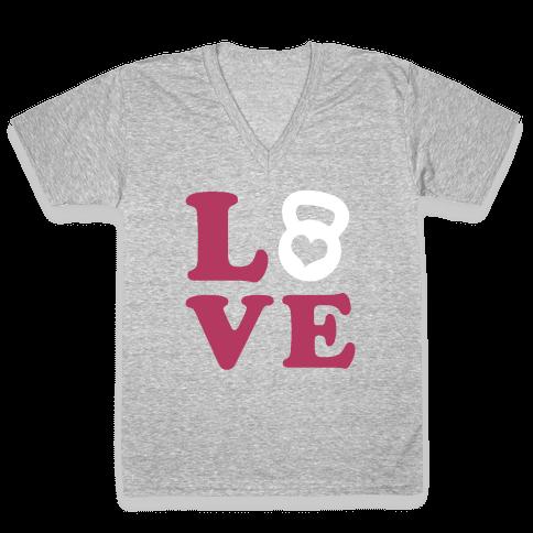 Love Fitness V-Neck Tee Shirt