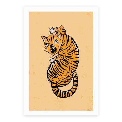 The Ferocious Tiger Poster