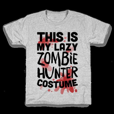 Lazy Zombie Hunter Costume Kids T-Shirt