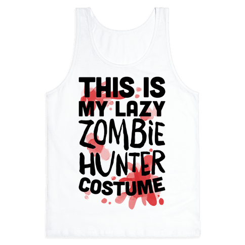 Lazy Zombie Hunter Costume Tank Top