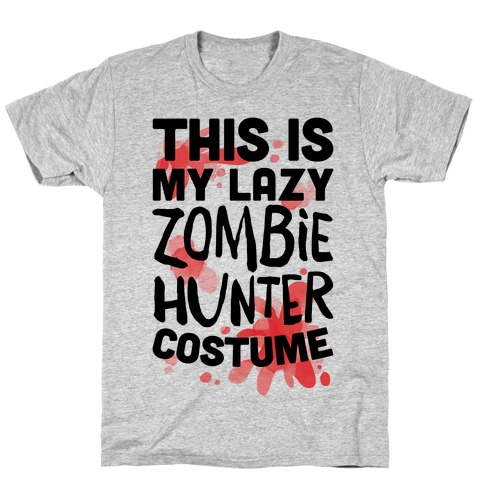 Lazy Zombie Hunter Costume T-Shirt