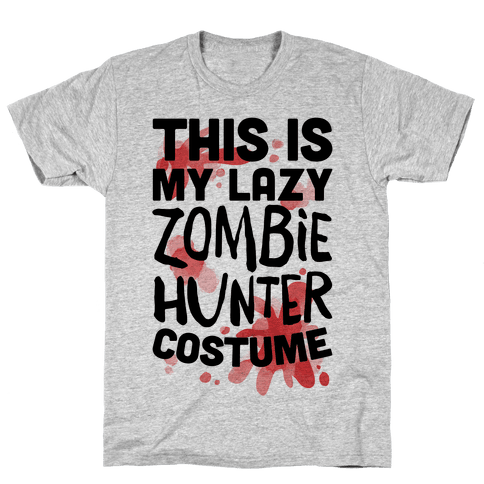 Lazy Zombie Hunter Costume Mens T-Shirt