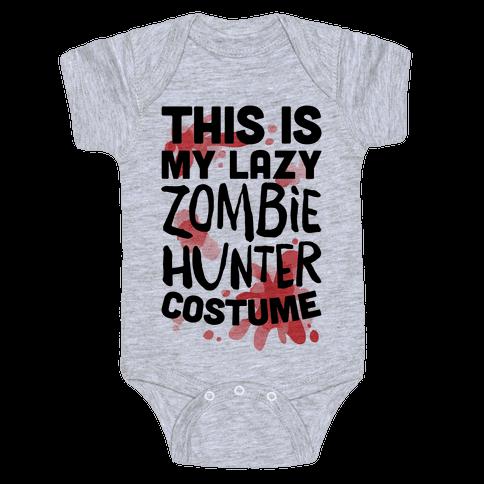 Lazy Zombie Hunter Costume Baby Onesy
