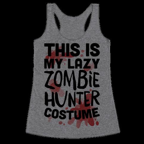 Lazy Zombie Hunter Costume Racerback Tank Top