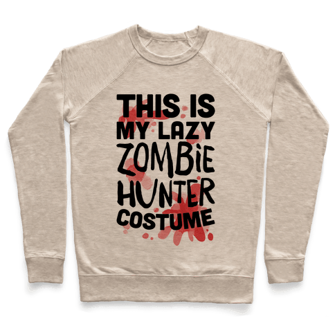 Lazy Zombie Hunter Costume Pullover