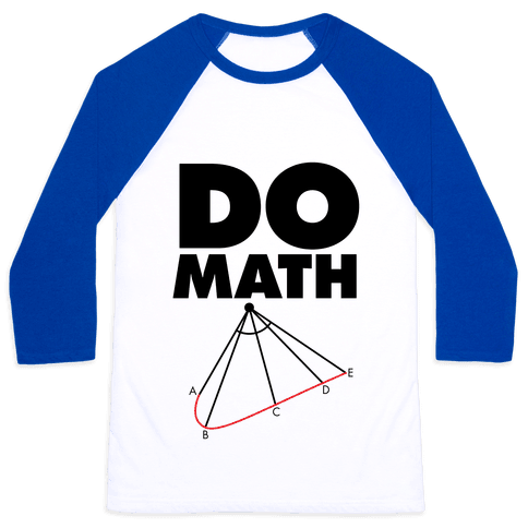 Do Math Baseball Tee