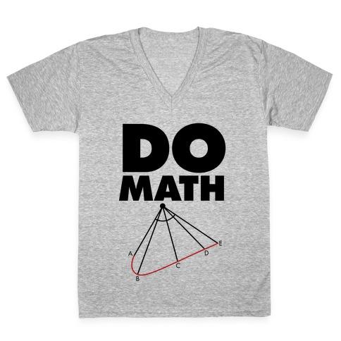 Do Math V-Neck Tee Shirt