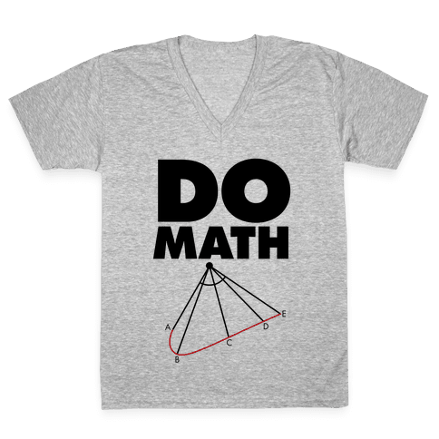 Do Math V-Neck Tee Shirt