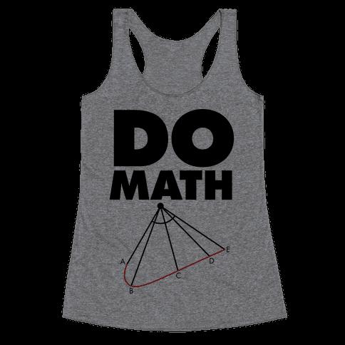 Do Math Racerback Tank Top