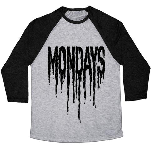Mondays Baseball Tee