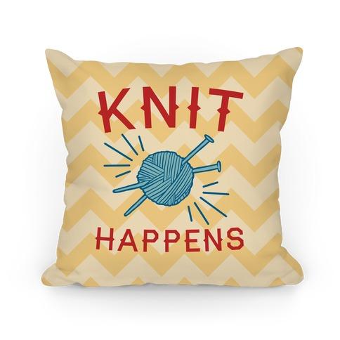 Knit Happens Pillow