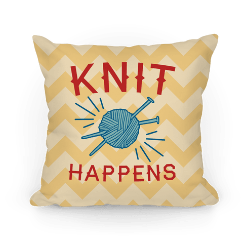 Knit Happens Pillow
