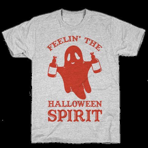 Feelin' the Halloween Spirit Mens/Unisex T-Shirt