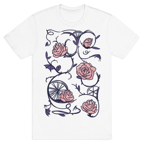 Sleeping Beauty Briar Rose Floral Pattern Mens T-Shirt