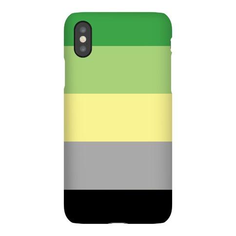Aromantic Pride Flag Phone Case
