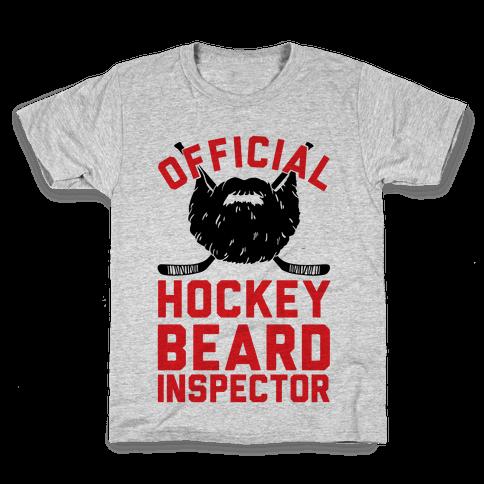 Official Hockey Beard Inspector Kids T-Shirt