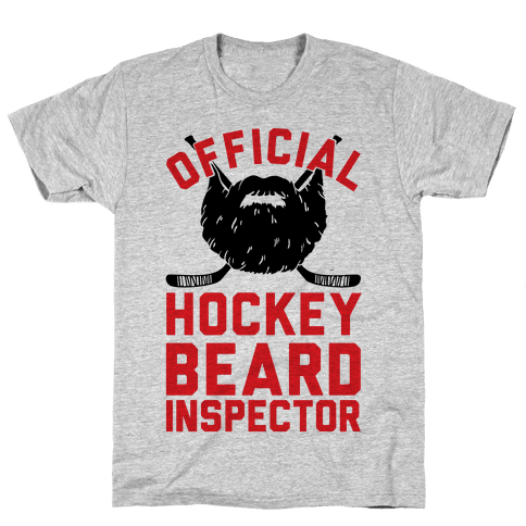 Official Hockey Beard Inspector Mens T-Shirt