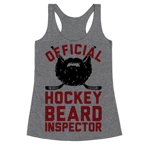 Official Hockey Beard Inspector Racerback Tank Top