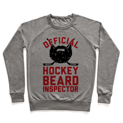 Official Hockey Beard Inspector Pullover