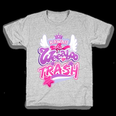 Kawaii Weeaboo Trash Anime Logo Kids T-Shirt
